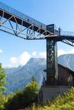 Piattaforma di osservazione sulla montagna del sale di Salzberg Immagini Stock