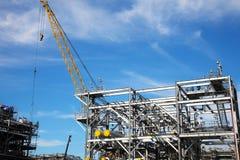 Piattaforma di perforazione in costruzione Fotografie Stock