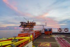 Piattaforma di produzione di petrolio Fotografie Stock