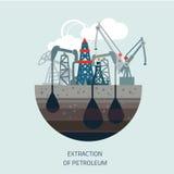 Piattaforma di produzione in mare Piattaforma petrolifera, combustibile gassoso, Fotografia Stock Libera da Diritti