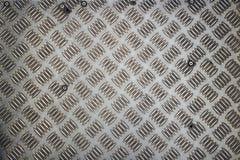 Piattaforma di superficie del metallo sotto i nostri piedi Immagine Stock Libera da Diritti