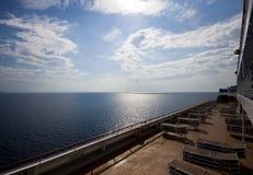 Piattaforma di una nave da crociera Fotografie Stock