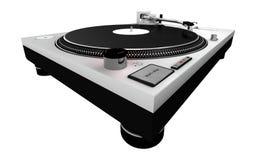 Piattaforma girevole 4 del DJ Fotografia Stock