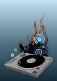 Piattaforma girevole del DJ Immagini Stock