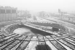 Piattaforma girevole della ferrovia Immagini Stock Libere da Diritti