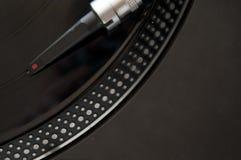 Piattaforma girevole record del DJ fotografie stock