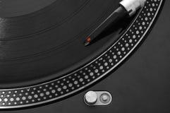 Piattaforma girevole record del DJ immagine stock
