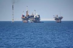 Piattaforma in mare aperto Fotografia Stock
