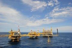 Piattaforma in mare aperto di produzione Immagine Stock Libera da Diritti
