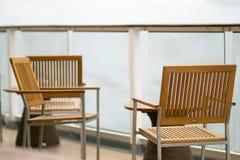 Piattaforma o balcone della nave da crociera sul viaggio nell'Alaska Fotografie Stock