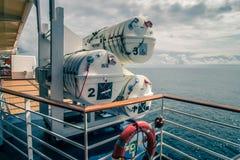 Piattaforma o balcone della nave da crociera sul viaggio nell'Alaska Immagine Stock Libera da Diritti