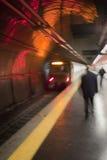 Piattaforma occupata del sottopassaggio a Roma, Italia Immagini Stock Libere da Diritti