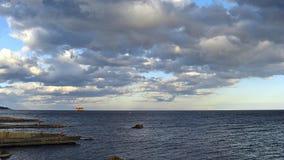 Piattaforma offshore Fotografie Stock