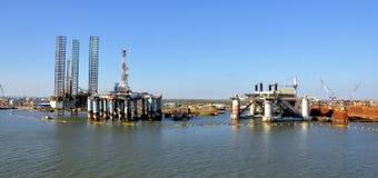 Piattaforma petrolifera Fotografia Stock