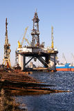 Piattaforma petrolifera Immagini Stock Libere da Diritti