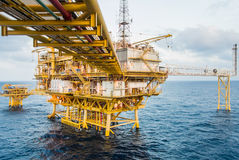 Piattaforma petrolifera Immagini Stock