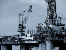 Piattaforma petrolifera Fotografie Stock Libere da Diritti