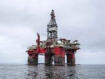 Piattaforma petrolifera Fotografie Stock