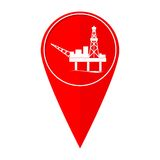 Piattaforma petrolifera del puntatore della mappa illustrazione vettoriale