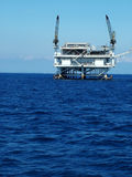 Piattaforma petrolifera in su 2 vicini Immagine Stock Libera da Diritti