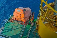 Piattaforma poppiera della nave da carico Immagine Stock Libera da Diritti