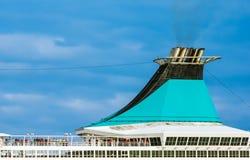 Piattaforma superiore di una nave da crociera Fotografia Stock