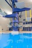 Piattaforme di immersione subacquea olimpiche Fotografia Stock