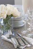 piatti che intrattengono a casa scintillare Fotografia Stock