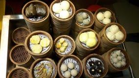 Piatti cinesi cotti a vapore Fotografie Stock Libere da Diritti