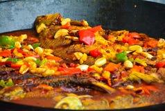 Piatti cinesi -- piatti brasati carpa dell'erba Fotografia Stock Libera da Diritti