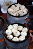 Piatti cotti a vapore cinesi Immagini Stock