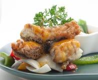 Piatti cucina dell'internazionale della Cina e della Tailandia Fotografia Stock