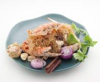 Piatti cucina dell'internazionale della Cina e della Tailandia Immagine Stock