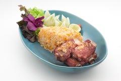 Piatti cucina dell'internazionale della Cina e della Tailandia Fotografie Stock