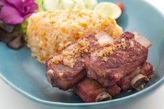 Piatti cucina dell'internazionale della Cina e della Tailandia Fotografia Stock Libera da Diritti