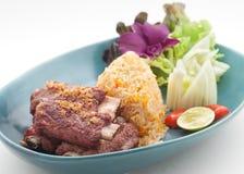 Piatti cucina dell'internazionale della Cina e della Tailandia Immagini Stock