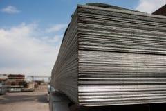 Piatti d'acciaio a costruzione Fotografia Stock Libera da Diritti