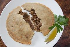Piatti del Medio-Oriente tipici dell'alimento Immagini Stock