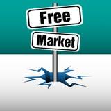 Piatti del mercato libero Immagini Stock