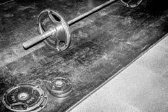 Piatti del peso dell'attrezzatura di esercizio di culturismo Fotografia Stock