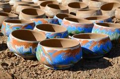 Piatti dell'argilla Fotografie Stock Libere da Diritti