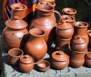 Piatti dell'argilla Fotografia Stock