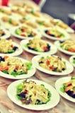 Piatti dell'insalata Immagine Stock