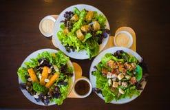 Piatti dell'insalata Fotografie Stock