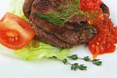 Piatti della carne dell'arrosto Fotografie Stock Libere da Diritti