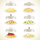 Piatti della pasta Immagini Stock