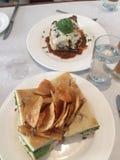 Piatti della tavola del ristorante fotografia stock