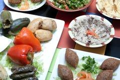 Piatti di alimento Fotografie Stock Libere da Diritti