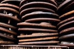 Piatti di appoggio automobilistici antichi d'annata del freno Fotografia Stock Libera da Diritti