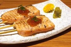 Piatti di color salmone deliziosi Fotografie Stock Libere da Diritti